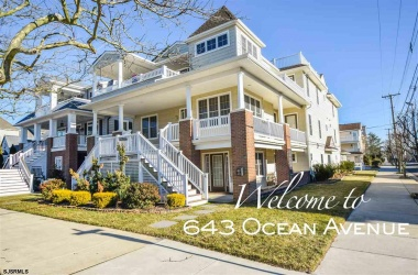 643 Ocean, Ocean City, New Jersey 08226, 5 Bedrooms Bedrooms, ,4 BathroomsBathrooms,Condo,For Sale,Ocean,14881