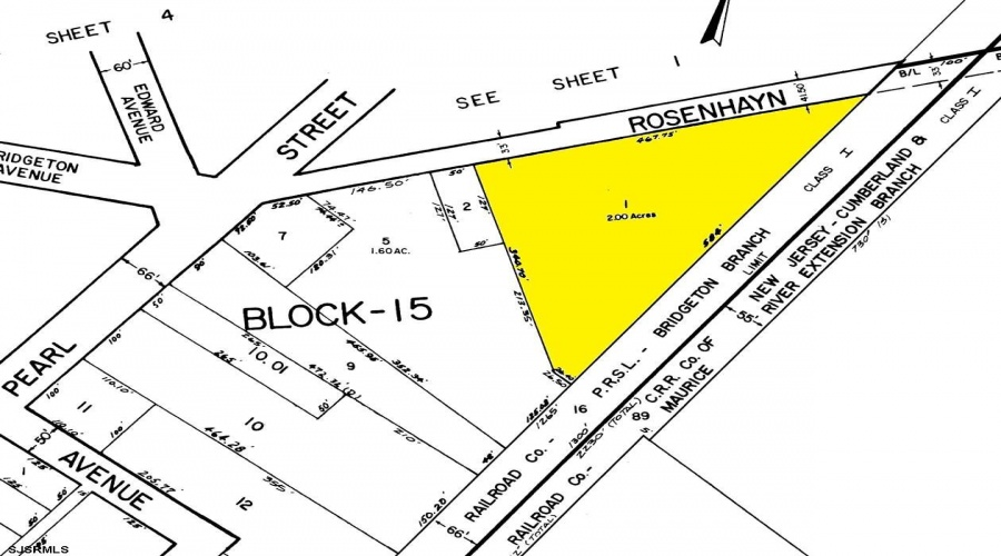 0 Rosenhayn, Bridgeton, New Jersey 08302, ,1+ To 5 Acres,For Sale,Rosenhayn,3636